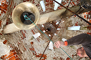Bell-ringer At Belfry Stock Photography - Image: 6432612
