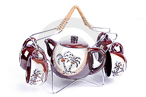 Teapot And Cups Stock Photos - Image: 6434603
