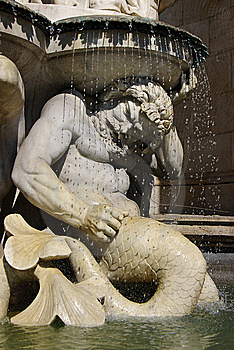 Architectural Detail Of Fountain. Vienna, Austria Stock Image - Image: 6434911