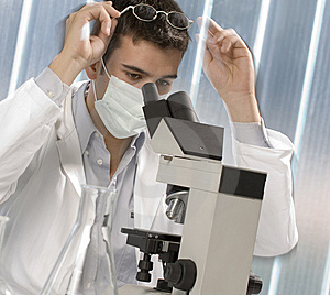 Young Scientist Discovering Something Stock Images - Image: 6436374