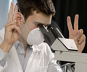 Young Scientist Discovering Something Stock Images - Image: 6436874