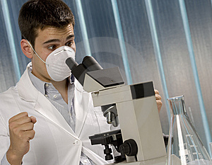 Young Scientist Discovering Something Royalty Free Stock Photography - Image: 6436967