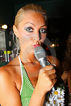 Singer Stock Photo - Image: 6437170
