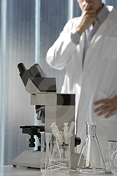 Young Scientist Thinking In His Lab Royalty Free Stock Photo - Image: 6437175