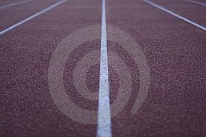 Idrotts- Running Stadionspår Arkivfoto - Bild: 6439470