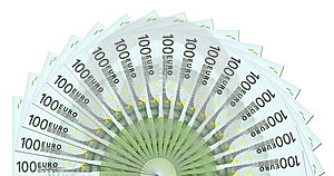 Calibre De 100 Euro Notes Photo libre de droits - Image: 6440055