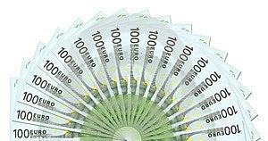 100 Notatek Szablon Euro Zdjęcie Royalty Free - Obraz: 6440055