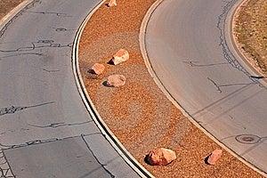 дорога кривого Стоковые Изображения RF - изображение: 6440629