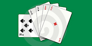 Poker Cards Royalty Free Stock Photos - Image: 6440678