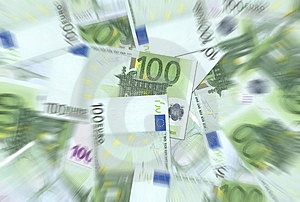 100 Euro Notes Texture Stock Image - Image: 6442131