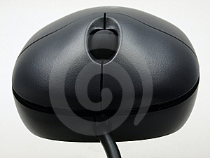 Black Mouse - Frontal View Stock Image - Image: 6442311