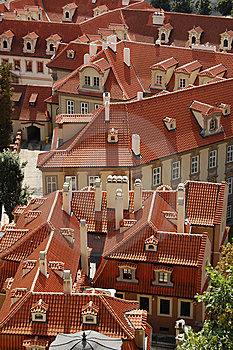 Prague Rooftops Royalty Free Stock Photography - Image: 6443437