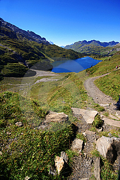 The Beautiful Tarn In Alps Royalty Free Stock Photo - Image: 6445435