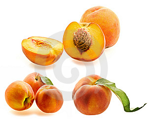 Set Of Fresh Ripe Peaches Royalty Free Stock Photography - Image: 6445577