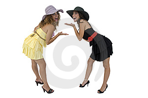 Cheerful Bending Females Stock Photos - Image: 6446993