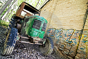 Old Tractor Royalty Free Stock Image - Image: 6449376