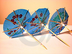 Party Blue Umbrellas Royalty Free Stock Images - Image: 6449419
