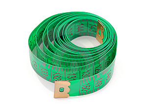 Green Measuring Tape Royalty Free Stock Photo - Image: 6450325