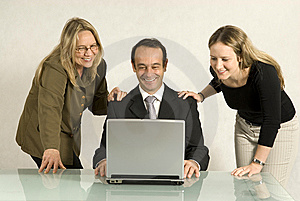 People Looking at Laptop Free Stock Photo