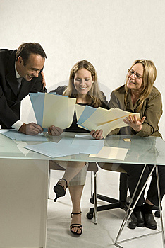 People in Business Meeting Stock Photography