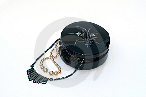 Necklaces In Box Royalty Free Stock Photo - Image: 6451765