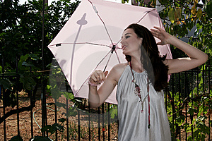 Woman With Umbrella Royalty Free Stock Photo - Image: 6451895