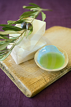 Olive soap Royalty Free Stock Photo