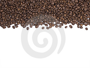 Coffee Beans Background or Border Royalty Free Stock Photography