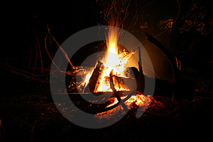 Fire With Sparks Royalty Free Stock Images - Image: 6453139