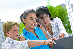 Family online Royalty Free Stock Photo