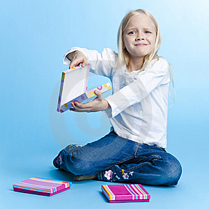 Young Girl With Gift Royalty Free Stock Images - Image: 6456349