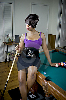 Sexy Game Of Pool Stock Images - Image: 6458094