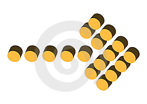 Dots Arrow Royalty Free Stock Photography - Image: 6460347