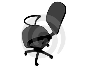 Rotating Office Chair Royalty Free Stock Photos - Image: 6463388