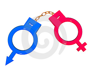 Symbols In The Form Of Handcuffs. Royalty Free Stock Image - Image: 6463396