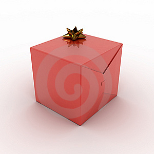 Red Present Box (rendering) Stock Images - Image: 6463594