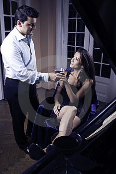 Couple Drinking Whine Royalty Free Stock Photo - Image: 6466215