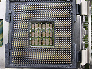 Computer CPU Seat On Motherboard Stock Photo - Image: 6468420