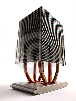 CPU-Kühlkörperperspektive Lizenzfreies Stockfoto - Bild: 6468495