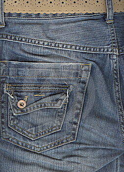 Close Up Of Jeans Back Pocket. Royalty Free Stock Photo - Image: 6469915