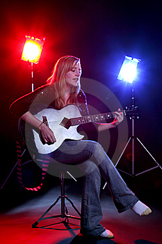 Woman Playing Guitar Royalty Free Stock Photography - Image: 6470407