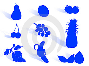 Fruit Silhouette Stock Image - Image: 6472781