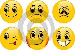 Vector Emoticons Royalty Free Stock Photos - Image: 6475118