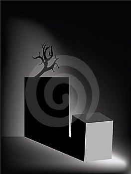 Dark spooky room