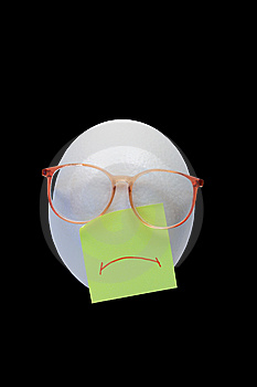 Sad Egg-head Stock Photography - Image: 6476082