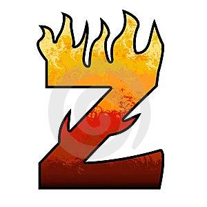 Flames Alphabet Letter - Z Stock Image - Image: 6476651