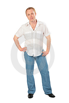 Red-haired Man Posing Royalty Free Stock Photos - Image: 6479898