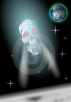 A Demon From Space Stock Photo - Image: 6481850