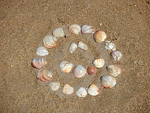 Smile In The Sand Royalty Free Stock Images - Image: 6482029