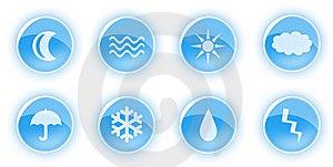 Blue Nature Icons Royalty Free Stock Photo - Image: 6484875
